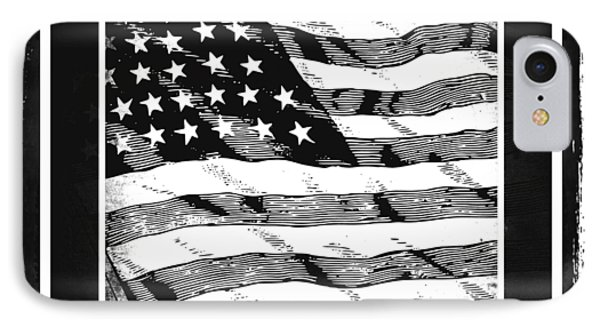 Star Spangled Banner Bw Phone Case by Angelina Vick