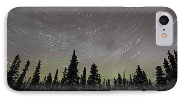 Star Trails, Milky Way And Green Aurora Phone Case by Yuichi Takasaka