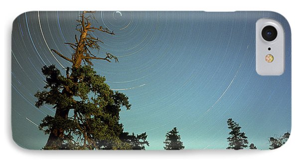 Star Trails, North Star And Old Douglas Phone Case by David Nunuk
