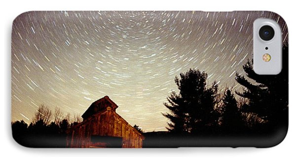 IPhone Case featuring the photograph Star Trails Over Sugar Shack by Rick Frost