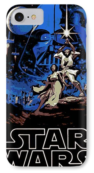 Star Wars Poster IPhone Case by George Pedro
