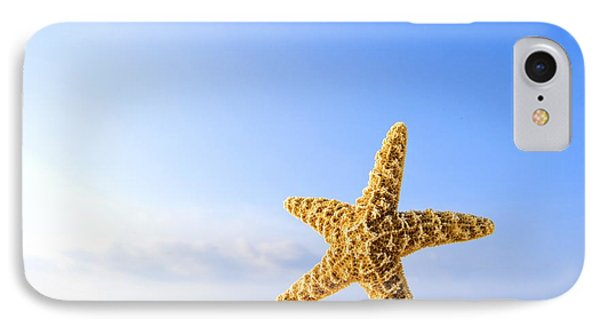 Starfish In Front Of The Ocean IPhone Case by Richard Wear
