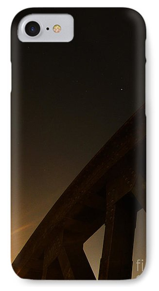 IPhone Case featuring the photograph Starry Night On Sunset Bridge by Andy Prendy