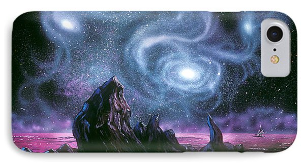 Starry Skies On Unknown Shores IPhone Case