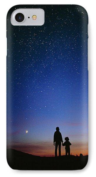 Starry Sky And Stargazers Phone Case by David Nunuk