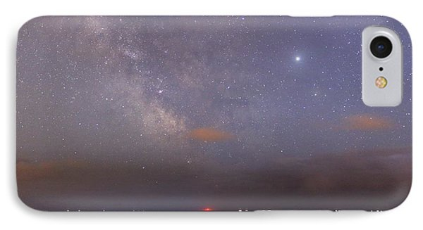 Stars And Jupiter In A Night Sky Phone Case by Laurent Laveder