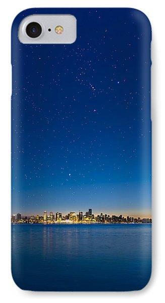 Stars Over Vancouver, Canada Phone Case by David Nunuk
