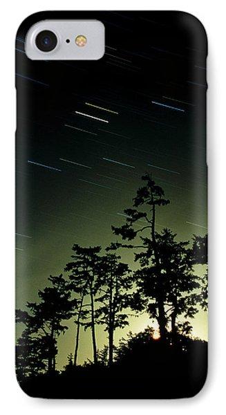Startrails And Moonlit Fog, Canada Phone Case by David Nunuk