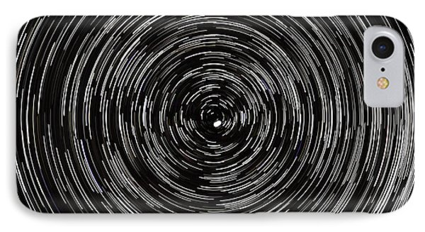 Startrails With Polaris At Center Phone Case by Cristian Mihaila