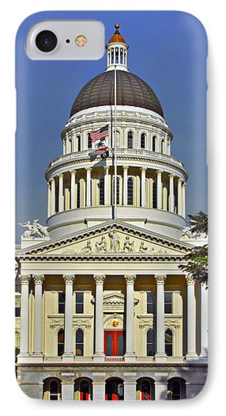 State Capitol Building Sacramento California Phone Case by Christine Till