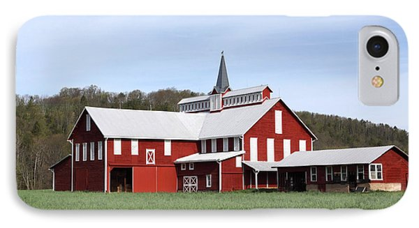 Stately Red Barn With Elongated Clerestory Cupola Phone Case by John Stephens