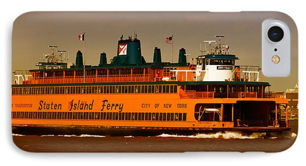 IPhone Case featuring the photograph Staten Island Ferry by Nancy De Flon