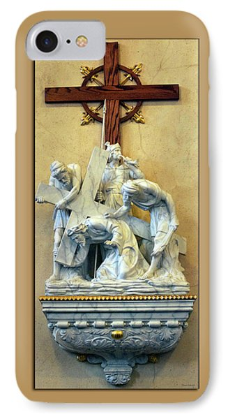 Station Of The Cross 03 Phone Case by Thomas Woolworth
