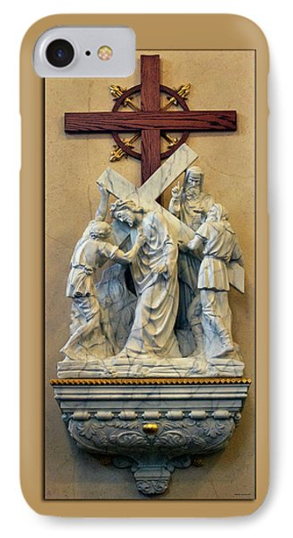 Station Of The Cross 05 Phone Case by Thomas Woolworth