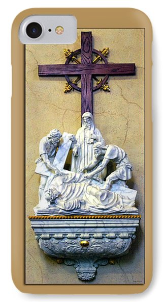 Station Of The Cross 09 Phone Case by Thomas Woolworth