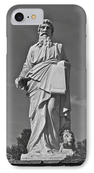 Statue 01 Black And White Phone Case by Thomas Woolworth