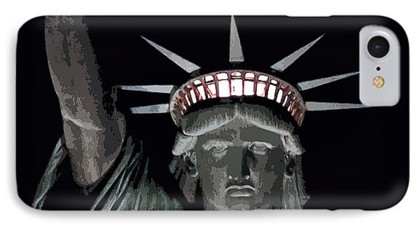 Statue Of Liberty Poster Phone Case by David Pringle