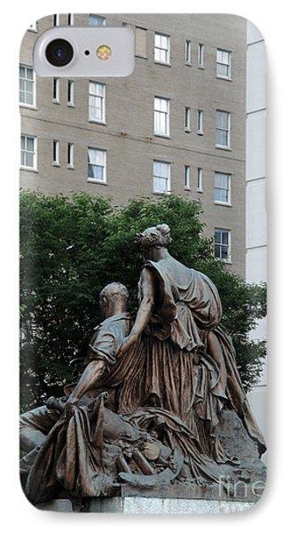 Statues In Nashville IPhone Case by Susanne Van Hulst