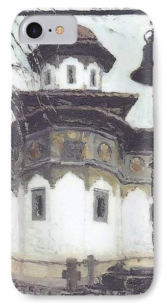 IPhone Case featuring the painting Stavropoleos Church by Olimpia - Hinamatsuri Barbu