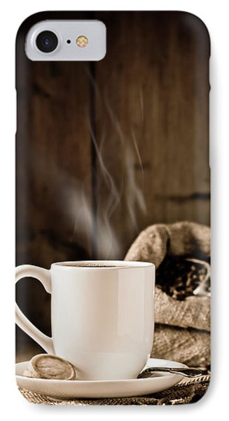 Steaming Coffee IPhone Case by Amanda Elwell