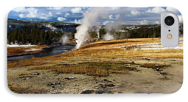 Steamy In Yellowstone IPhone Case by Adam Jewell