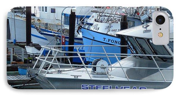 Steelhead And Fishing Boats Phone Case by Jeff Lowe