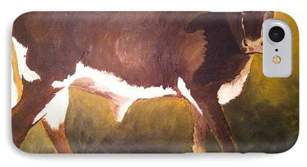 Steer Calf IPhone Case by Vonda Lawson-Rosa