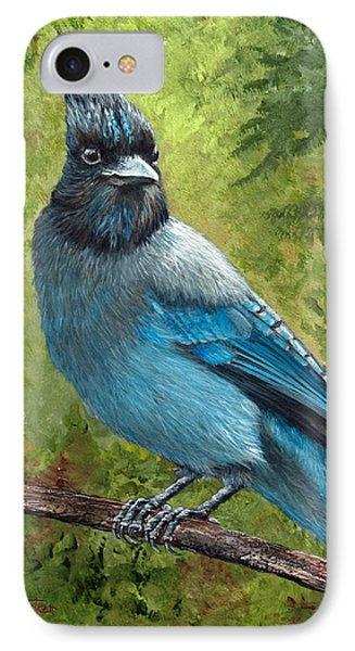 Stellar Jay Phone Case by Dee Carpenter