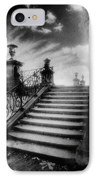 Steps At Chateau Vieux Phone Case by Simon Marsden