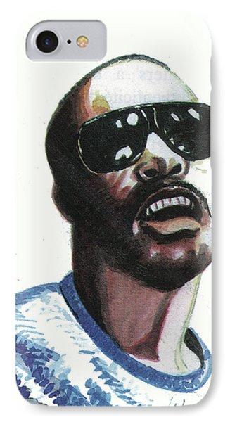 Stevie Wonder IPhone Case by Emmanuel Baliyanga