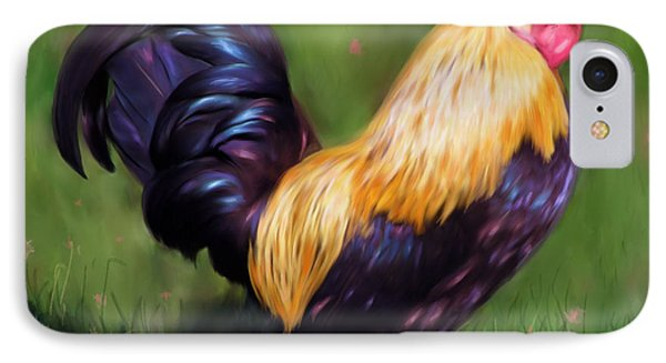 Stewart The Bantam Rooster Phone Case by Michelle Wrighton