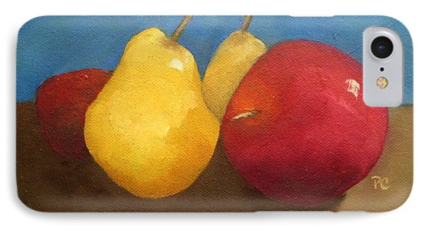 Still Life Apples And Pears IPhone Case by Patricia Cleasby
