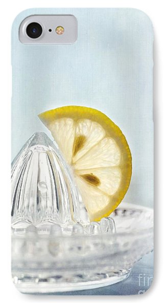 Still Life With A Half Slice Of Lemon IPhone Case by Priska Wettstein