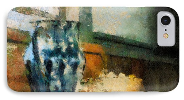 Still Life With Blue Jug Phone Case by Lois Bryan