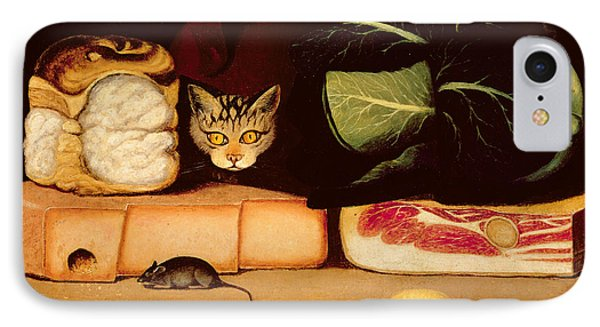 Still Life With Cat And Mouse IPhone Case by Anonymous