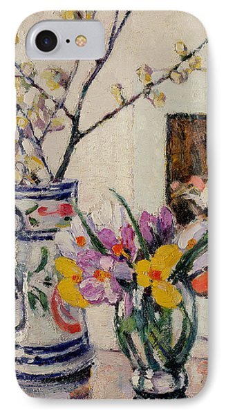 Still Life With Flowers In A Vase   Phone Case by Rowley Leggett