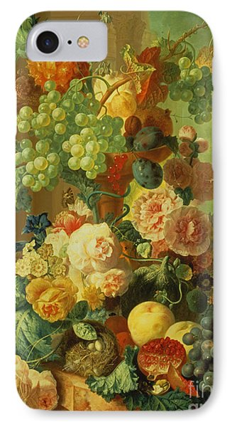 Still Life With Fruit And Flowers Phone Case by Jan van Os