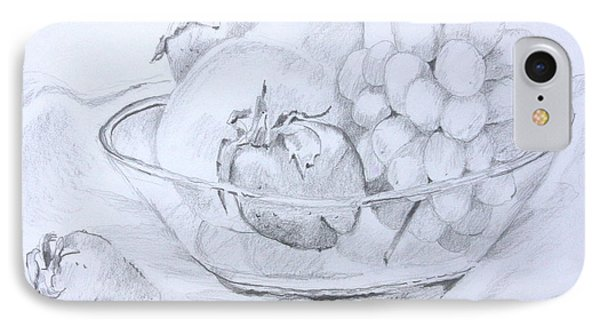 Still Life With Fruit IPhone Case by Jan Bennicoff