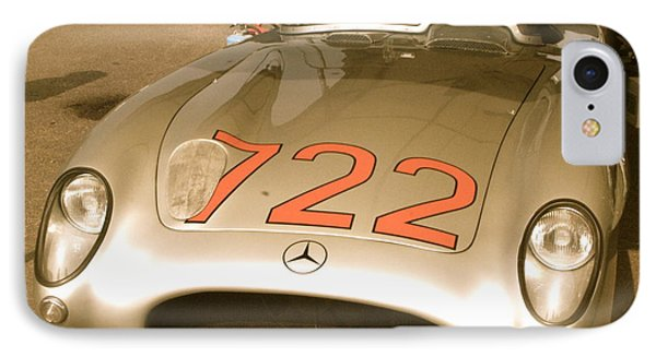IPhone Case featuring the photograph Stirling Moss 1955 Mille Miglia 722 Mercedes by John Colley