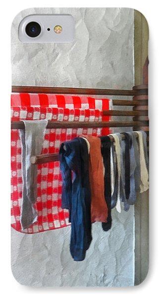 Stockings Hanging To Dry Phone Case by Susan Savad