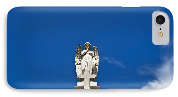 Stone Angel And Blue Sky II IPhone Case by Ray Laskowitz