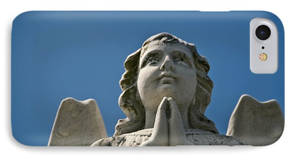Stone Angel And Blue Sky Iv IPhone Case by Ray Laskowitz