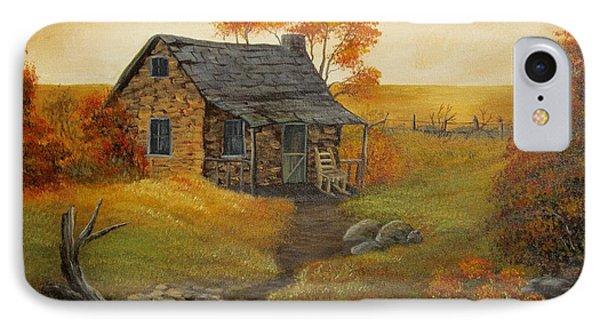 Stone Cabin Phone Case by Kathy Sheeran