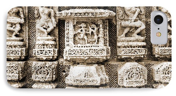 Stone Carvings In An Indain Temple IPhone Case by Sumit Mehndiratta