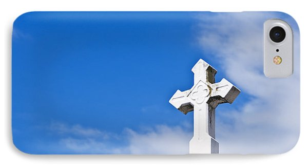 Stone Cross And Blue Sky II IPhone Case by Ray Laskowitz