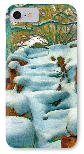 Stone Steps In Winter Phone Case by Jeff Kolker