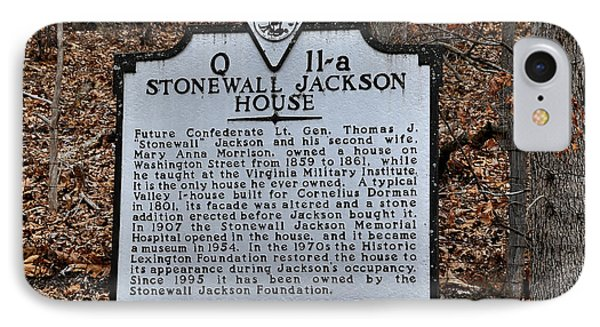 Stonewall Jackson House Phone Case by Todd Hostetter
