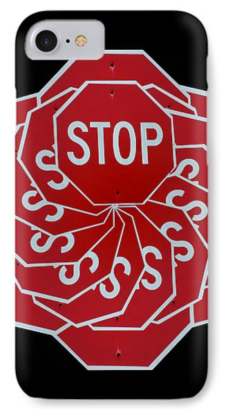 Stop Sign Kalidescope Phone Case by Denise Keegan Frawley