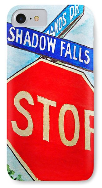Stop Sign Sketchbook Project Down My Street IPhone Case