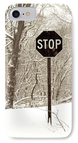Stop Snowing Phone Case by John Stephens